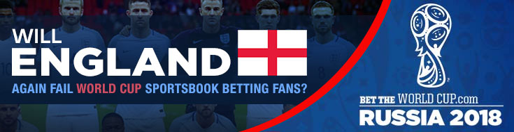 England Odds and expectations for the 2018 Russia World Cup betting