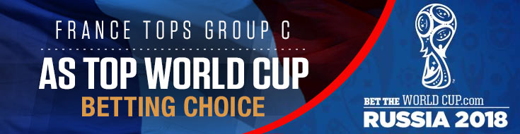 France Group C Betting World Cup favorite