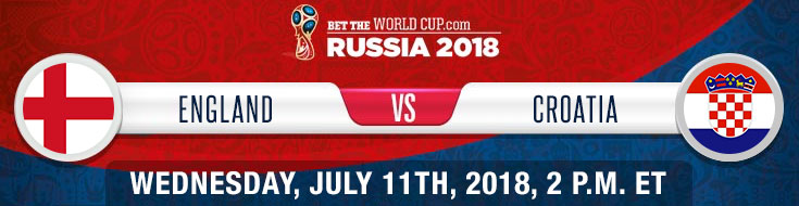 England vs. Croatia World Cup Semi Finals Betting odds and preview